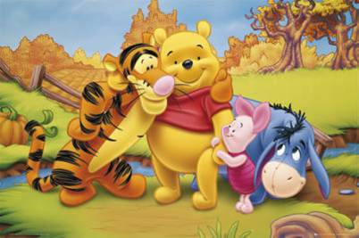 Popular cartoon characters are teaching about the flu
